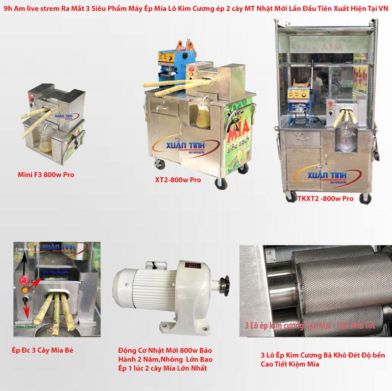 f3 -800w pro là 1 trong 3 siêu phẩm vip bán chạy nhất tại cty máy mía Xuân Tình