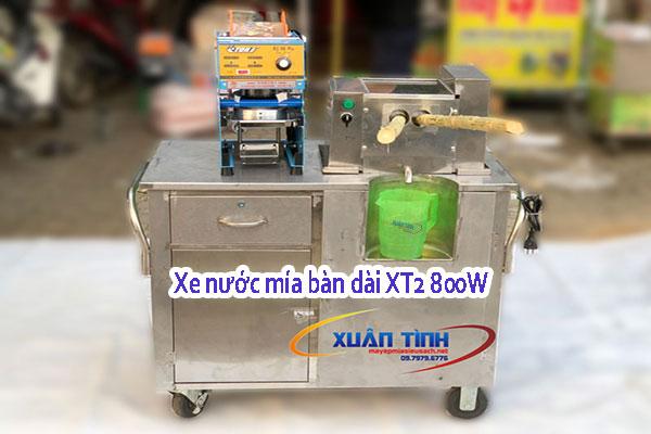 Xe nước mía bàn dài XT2 800W ép 2 cây cao cấp
