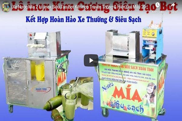Xe Nuoc Mia 2 Lo Inox Sieu Tao Bot Ket Hop Truyen Thong Hien Dai Mau 2020