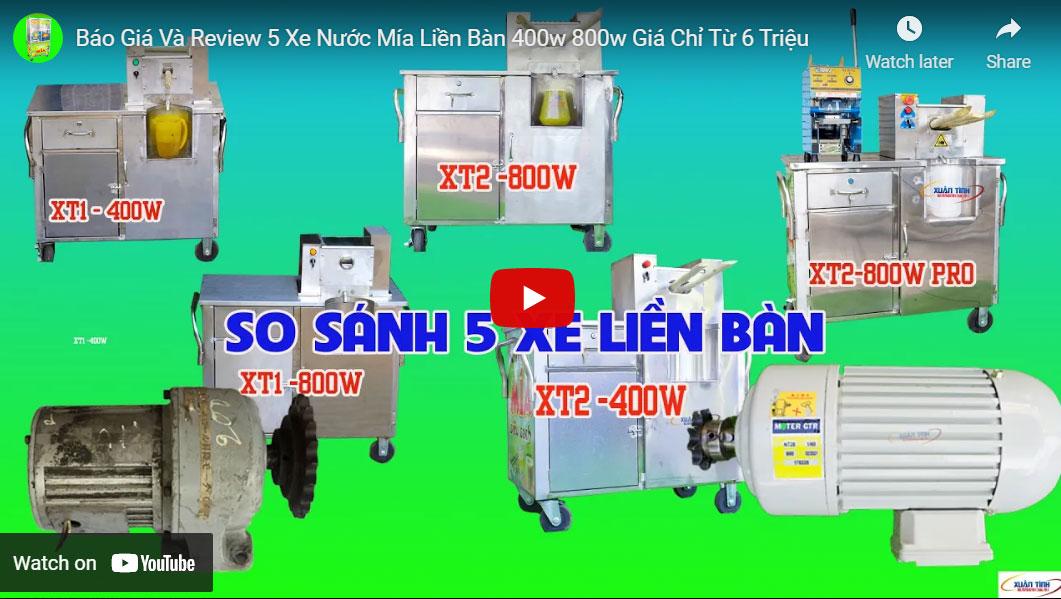 Bao Gia Va Review 5 Xe Nuoc Mia Lien Ban 400w 800w Gia Chi Tu 6 Trieu